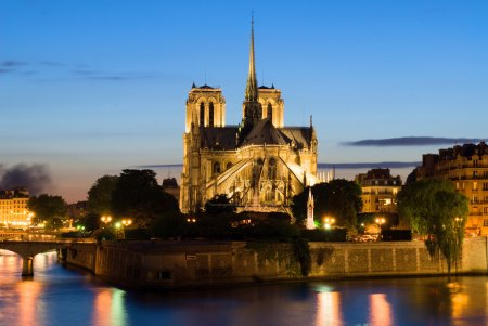 Notre Dame de Paris. Night view.