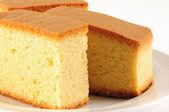 Sponge cake. Isolated