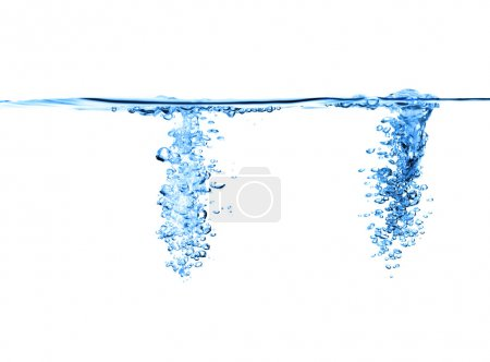 Photo for Air in water isolated on white background - Royalty Free Image