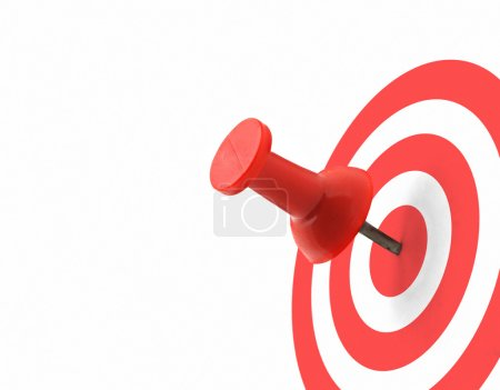 Photo for Target concept - red thumbtack placed in the centre - Royalty Free Image
