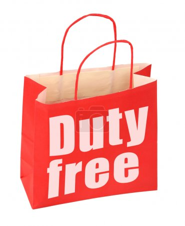 Paper bag with duty free sign