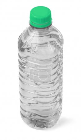 Photo for Bottle full of water against white background, gentle shadow at the right side - Royalty Free Image