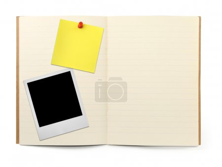 Exercise book with photo frame