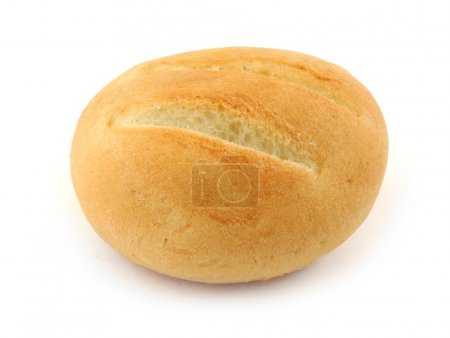 Photo for Close-up of fresh delicious bun on white - Royalty Free Image