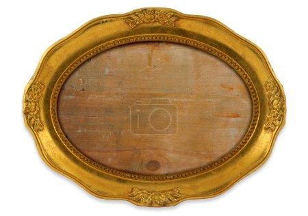 Gilded oval frame