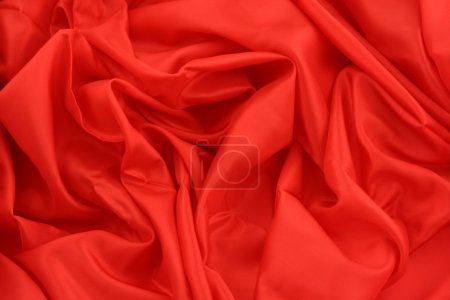 Photo for Red satin - Royalty Free Image