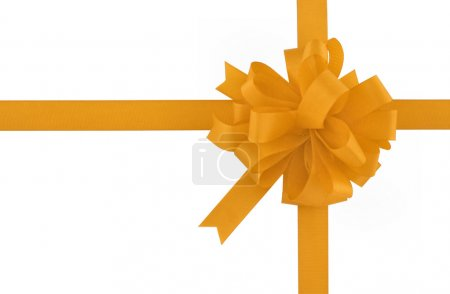 Photo for Yellow bow and ribbon - Royalty Free Image