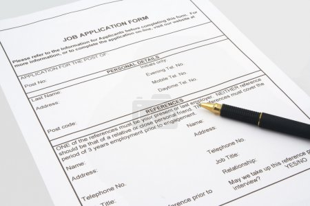 Photo for Job application form - Royalty Free Image