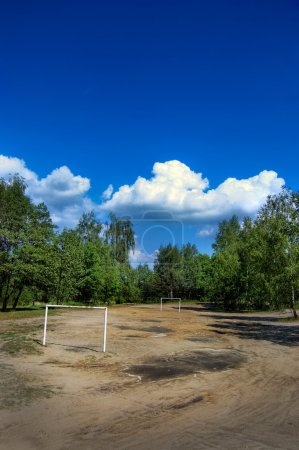 Countryside soccer pitch