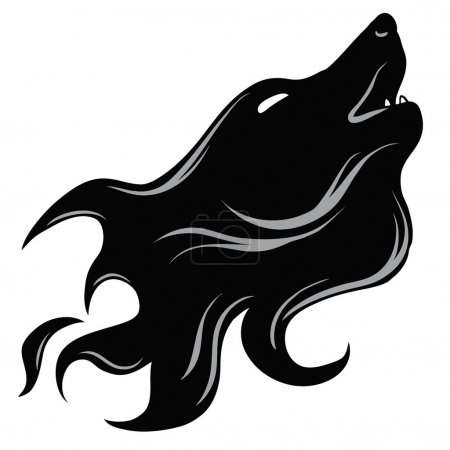 Photo for Tatoo style wolf's head - Royalty Free Image