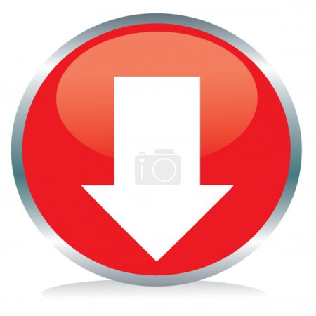 Photo for Red button arrow sign - Royalty Free Image