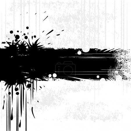 Photo for Grunge style illustration of an ink splat banner - Royalty Free Image