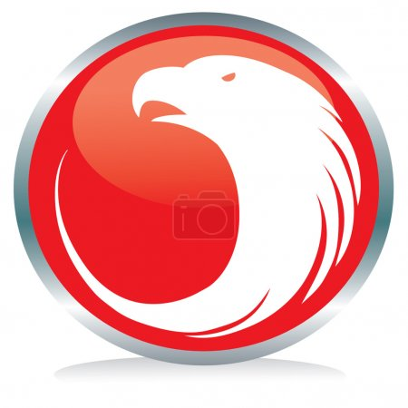 Photo for Vector illustration of an eagle button sign - Royalty Free Image