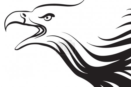 Photo for Line art style drawing of an eagle - Royalty Free Image