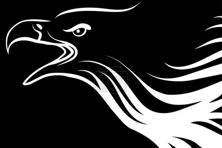 Photo for Drawing of an eagle - Royalty Free Image