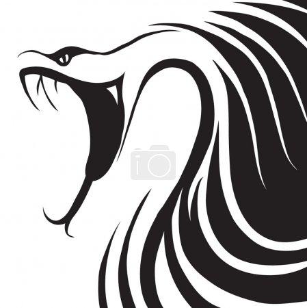 Illustration pour Conception d'un serpent dangereux - image libre de droit