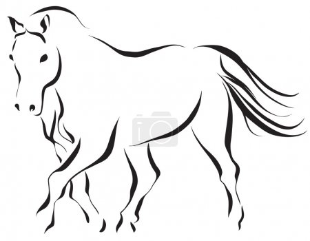 Photo for Line art illustration of a horse - Royalty Free Image