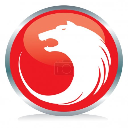 Photo for Vector illustration of a wolf button sign - Royalty Free Image