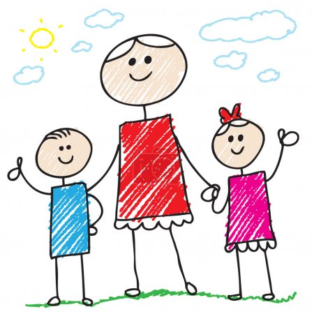 Photo for Doodle family - Royalty Free Image