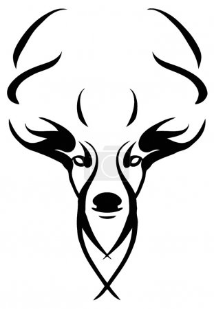 Photo for Design of a deer's head - Royalty Free Image