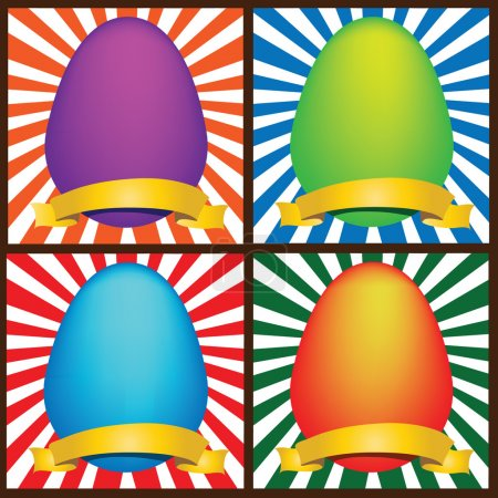 Photo for Illustration of a four Easter eggs( grouped) - Royalty Free Image