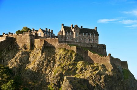 Photo for Edinburgh castle on a clear autumn day - Royalty Free Image