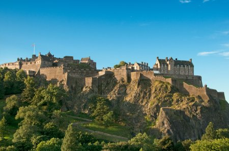 Photo for Edinburgh Castle on a clear sunny day - Royalty Free Image
