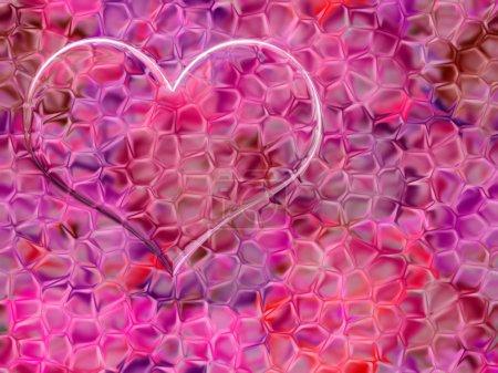 Photo pour Scène de fond abstraite avec coeur dessin - image libre de droit