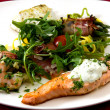 White plate with delicious meal ready to eat...