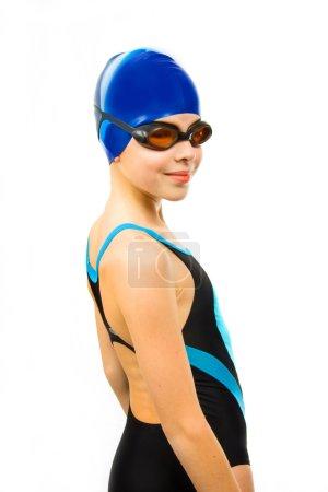Girl in swimsuit