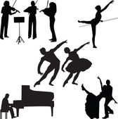 Music silhouette vector