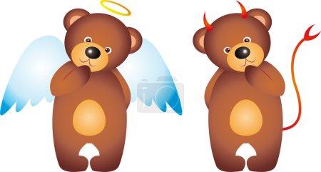 Illustration pour Vecteur ours isolé sur fond blanc - image libre de droit