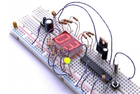 Photo for Prototyping electronic board used for testing new designs. - Royalty Free Image