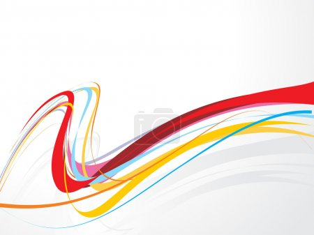 Illustration for Abstract rainbow wave line with space of your text, vector illustration - Royalty Free Image