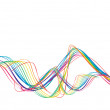 Abstract rainbow wave line with sample text backgr...