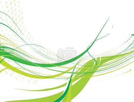 Illustration pour Abstrait fond de ligne d'onde avec l'espace de votre texte, illustration vectorielle - image libre de droit