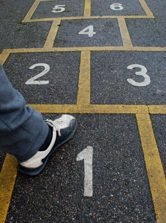 Photo for Man making first step in the game - Royalty Free Image