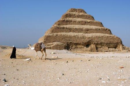Ancient step pyramid of Djoser (Zoser), Saqqara, E...