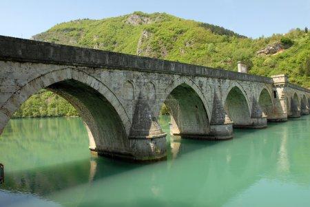 Old stone bridge in Visegrad