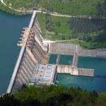Water barrier dam, Perucac, river Drina, Serbia...