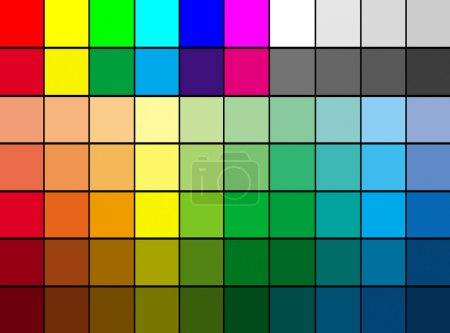 Photo for Multi color palette background, suitable to use it as color mosaic background - Royalty Free Image
