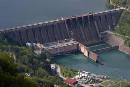Water barrier dam, river Drina, Perucac, Serbia...