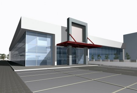 3D render of modern business center