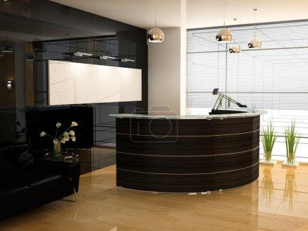 Photo pour Réception dans le bureau moderne image 3d - image libre de droit
