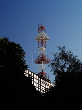 Radio and tv broadcasting tower