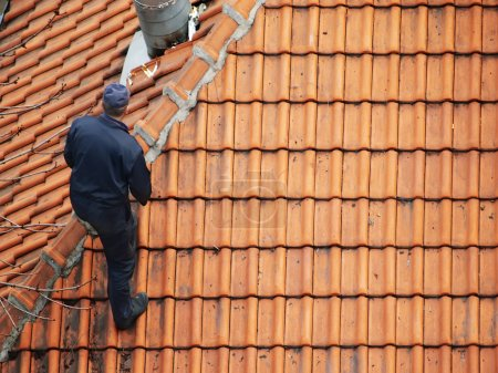 Roofer doing repair