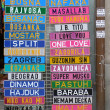 Souvenir license plates with different Serbian , B...