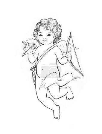 Photo pour Croquis de bébé ange - image libre de droit