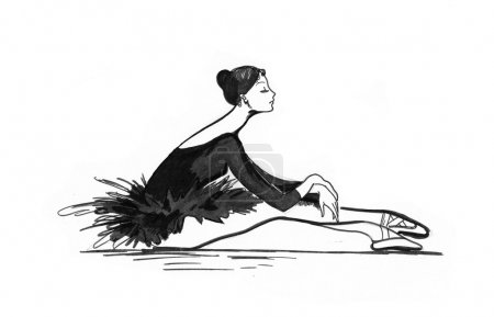 Ballet dancer drawing