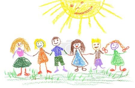 letni dzień, rysunek dziecka